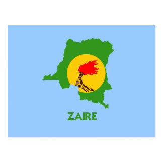 ZAIRE MAP POSTCARD