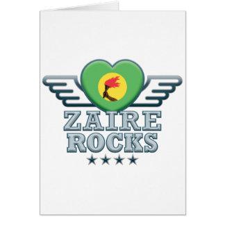 Zaire oscila v2 tarjeta de felicitación