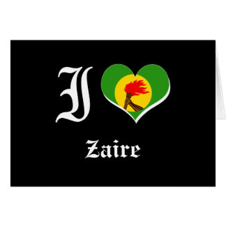 Zaire Tarjeta De Felicitación