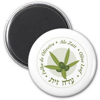 Zait verde oliva de la cerveza inglesa de folha de imán redondo 5 cm