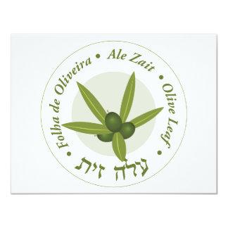 Zait verde oliva de la cerveza inglesa de folha de invitación personalizada