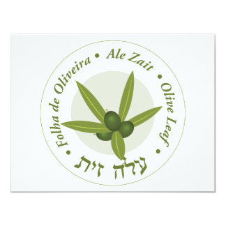 "Zait verde oliva de la cerveza inglesa de folha de invitación 4.25"" x 5.5"""