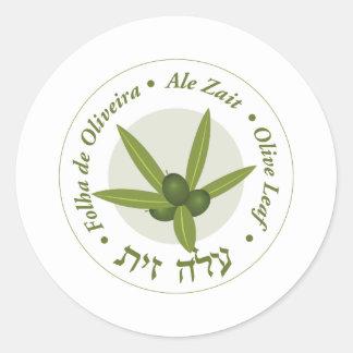 Zait verde oliva de la cerveza inglesa de folha de pegatina redonda