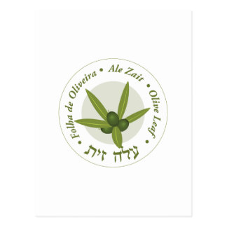 Zait verde oliva de la cerveza inglesa de folha de tarjetas postales