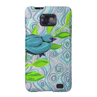 zakiaz blue bird swirl galaxy s2 case