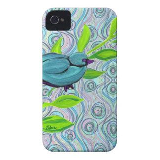zakiaz blue bird swirl Case-Mate iPhone 4 case