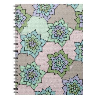 zakiaz lotus flower spiral note book