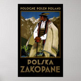 Zakopane Poland Vintage Travel Poster Restored
