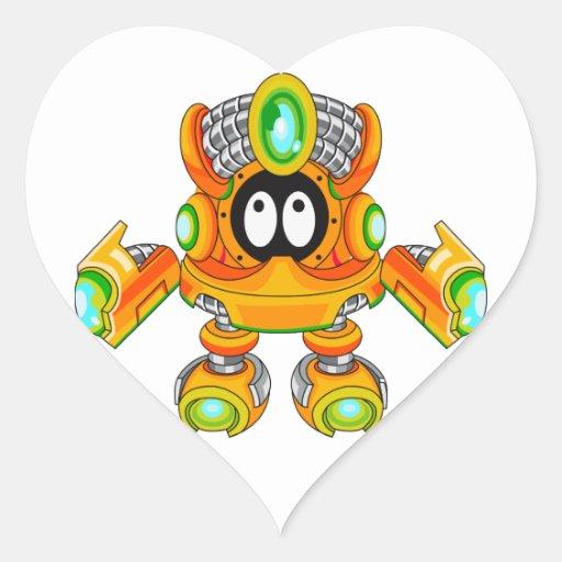 Zakraibuster V Pegatina En Forma De Corazón