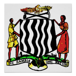Zambia, Africa, Coat of Arms Print