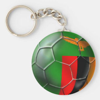 Zambia African nations Cup Winners Champions Gift Basic Round Button Keychain