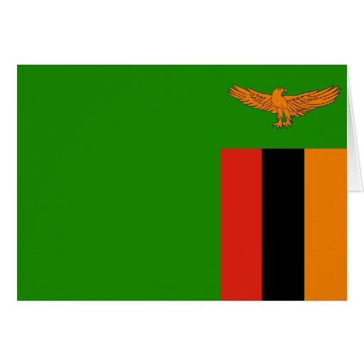 Zambia - bandera zambiana tarjeta de felicitación