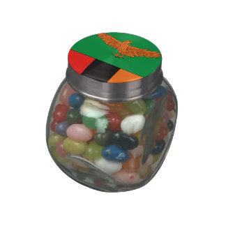 Zambia Glass Candy Jar