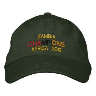 Zambia Champions Africa Cup of Nations 2012 Embroidered Baseball Cap