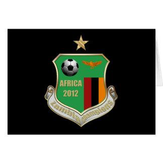 Zambia Champions Emblem Badge Crest 2012 Card