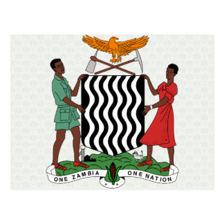 Zambia Coat of Arms detail Postcard