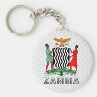 Zambia Coat of Arms Keychain