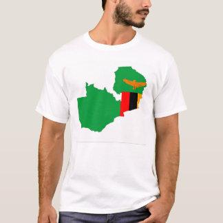zambia country flag map shape symbol T-Shirt