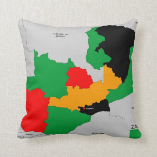 zambia country political map flag throw pillows