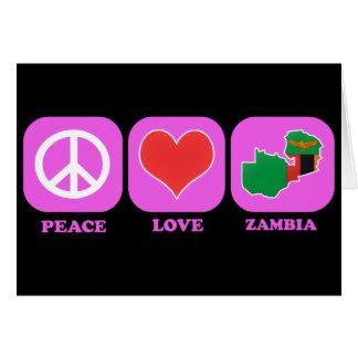 Zambia del amor de la paz felicitaciones