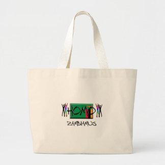 Zambia del homo bolsa de tela grande
