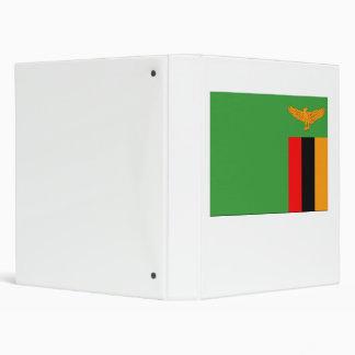 Zambia Flag 3 Ring Binder