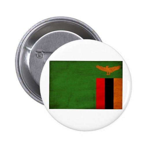 Zambia Flag Pinback Buttons