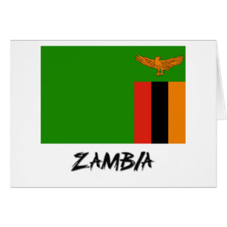 Zambia Flag Card