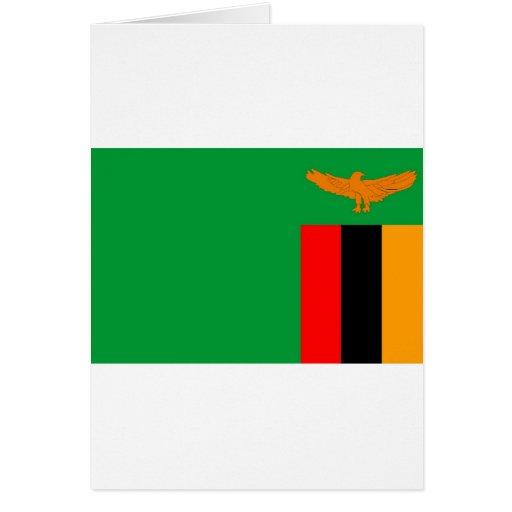 Zambia flag card
