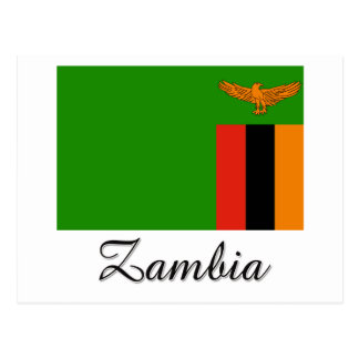 Zambia Flag Design Postcard