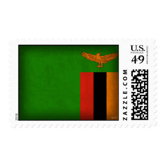 Zambia Flag Distressed Stamps