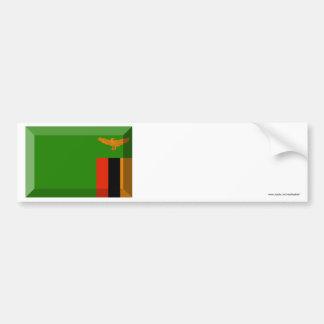 Zambia Flag Jewel Car Bumper Sticker