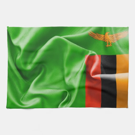 Zambia Flag Kitchen Towel   Zazzle