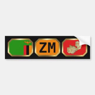 Zambia Flag Map Code Bumper Sticker