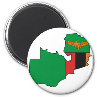 Zambia flag map magnet