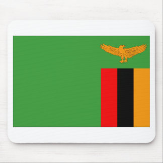 Zambia Flag Mouse Pad