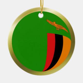 Zambia Flag Ornament