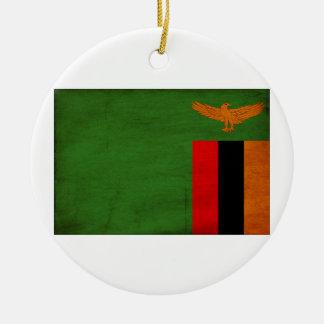 Zambia Flag Ornaments