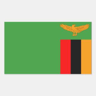 Zambia Flag Rectangular Sticker