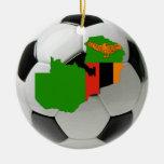 Zambia football soccer ornament
