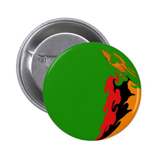 Zambia Gnarly Flag 2 Inch Round Button