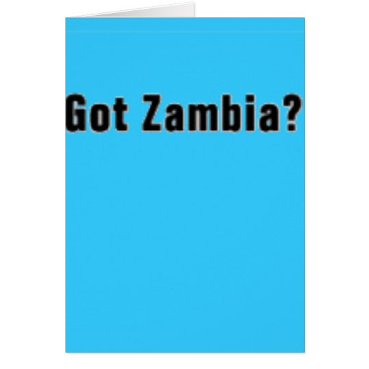 Zambia (Got Zambia) T-Shirt and etc Card