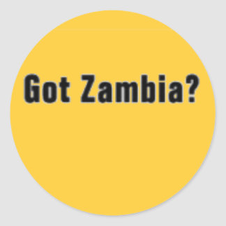 Zambia (Got Zambia) T-Shirt and etc Classic Round Sticker
