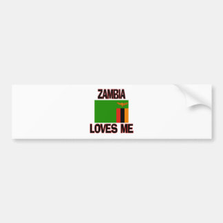 Zambia Loves Me Bumper Sticker