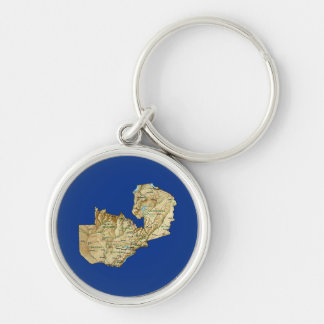Zambia Map Keychain