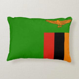 Zambia National World Flag Decorative Pillow