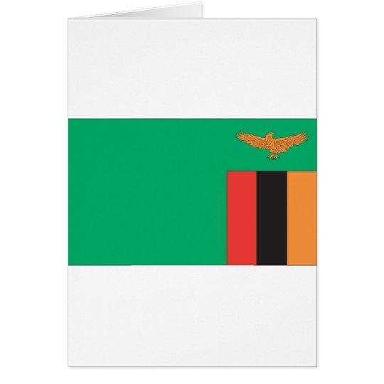 Zambian Flag Card