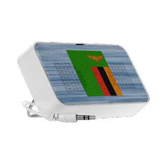 Zambian Flag Floating on water iPod Speaker