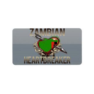 Zambian Heartbreaker Address Label