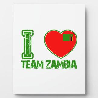 zambian sport designs plaques